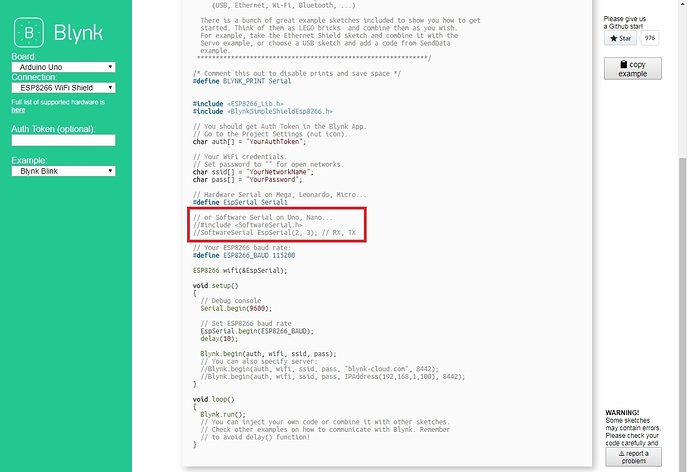 SOLVED] Problem With #include < SoftwareSerial h > - Solved - Blynk