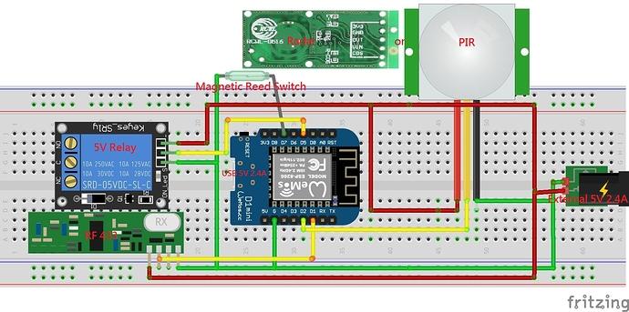 PIR_Radar_RF433_Magnetic_Door_Diagram