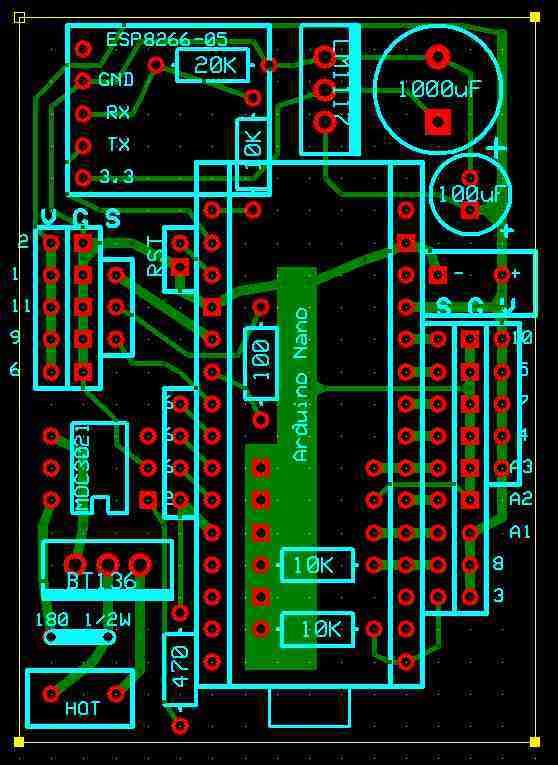 8 Nodes/1 Base house surveillance with Nano and ESP8266