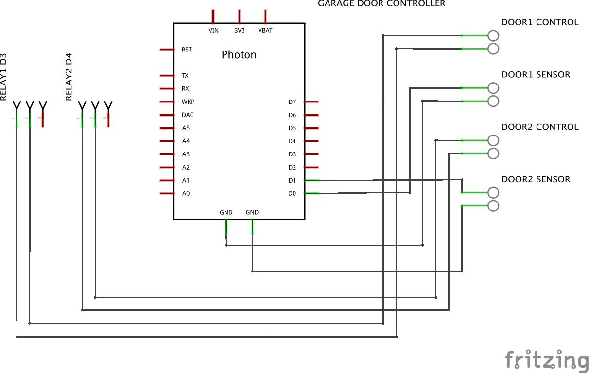 Photon  Blynk Garage Door Controller