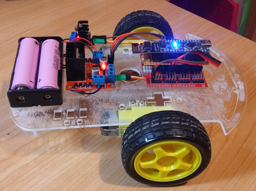 how to build a rc car with arduino using sensors
