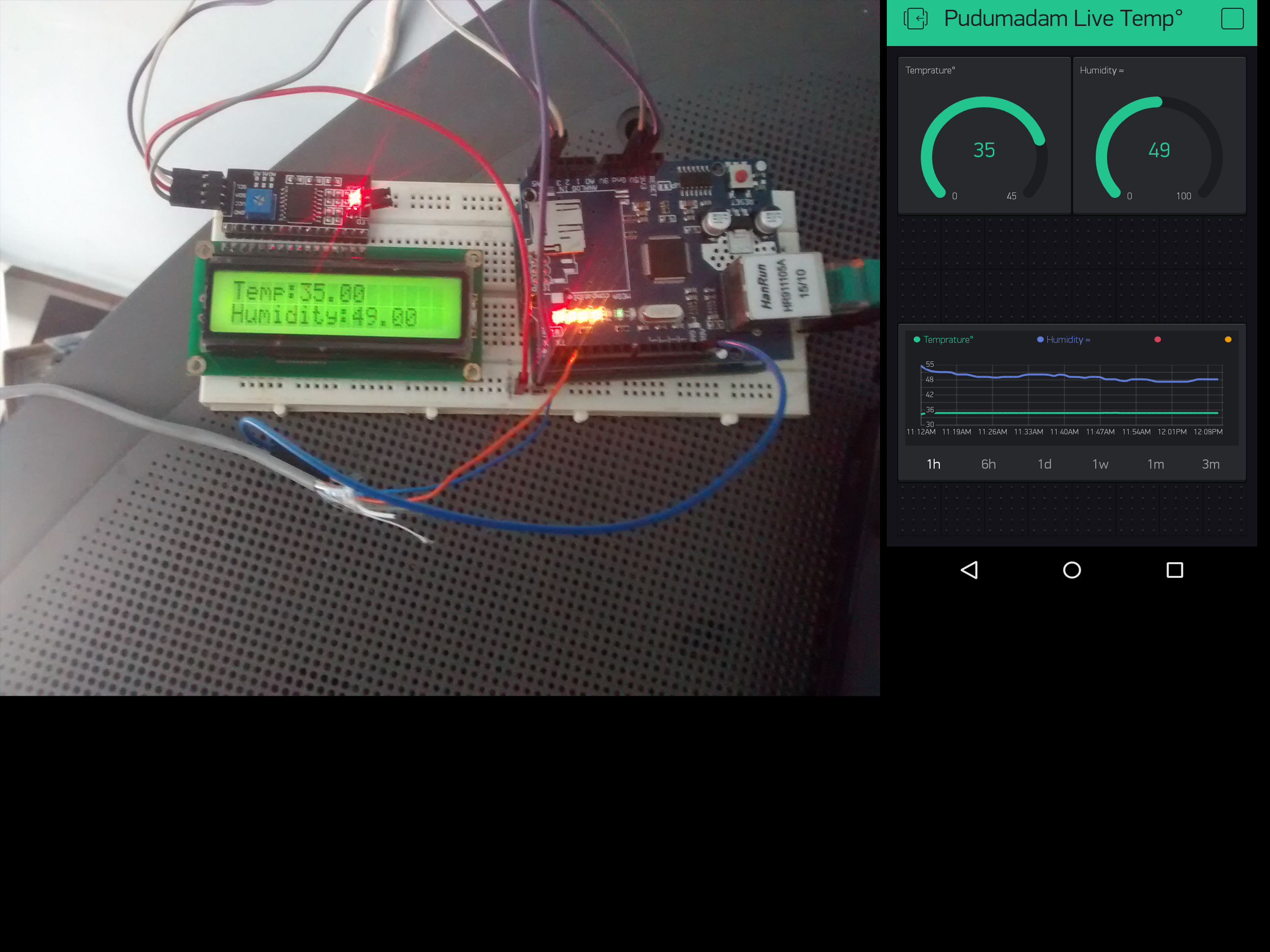 Blynk WIth I2c 1602LCD Display and Blynk App - Projects made with