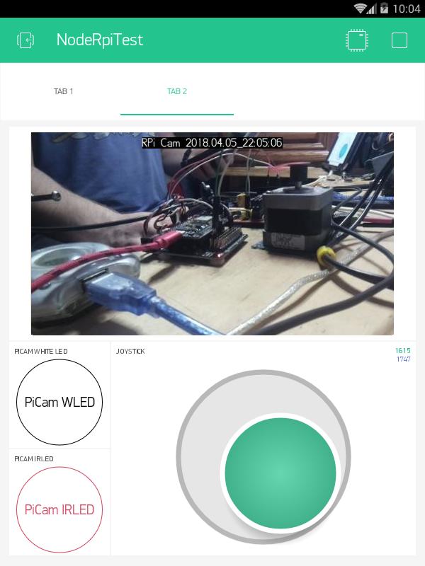 Picam On Pan Amp Tilt Online With Blynk Video Widget
