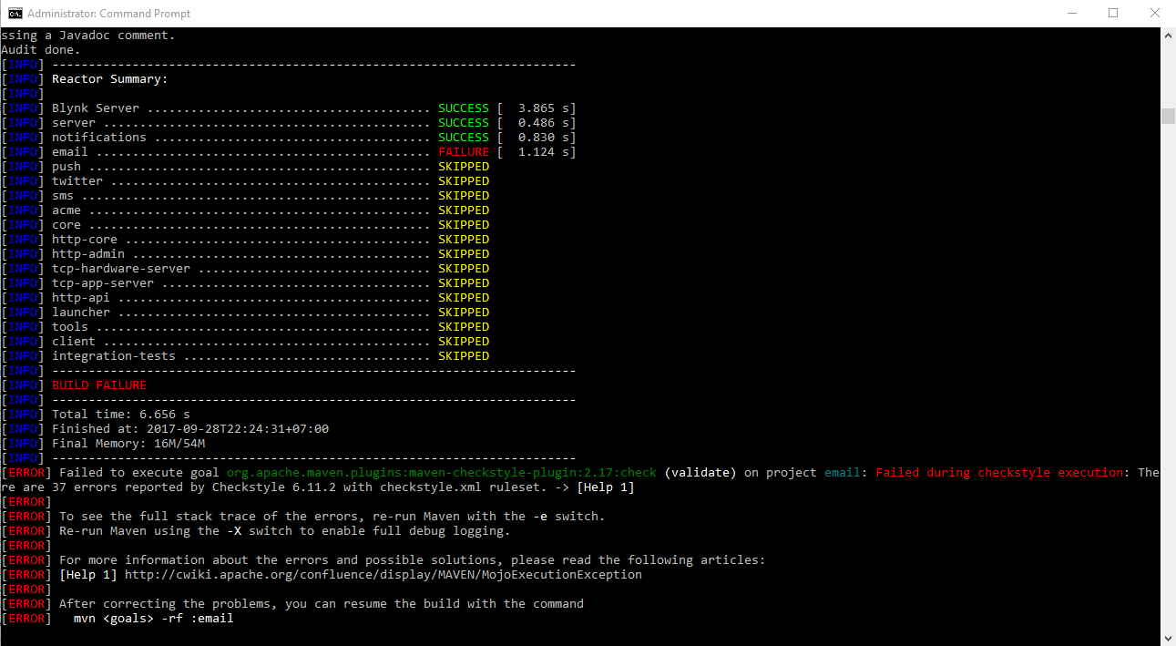 mvn clean install skip tests