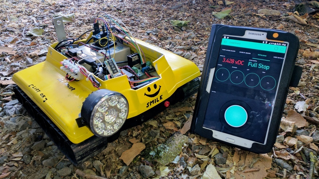 Blynk Joystick Controlled Tracked Rover with Wemos D1 Mini Pro