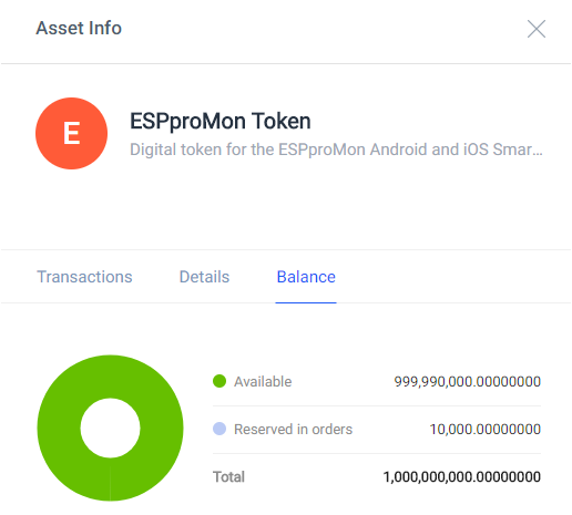 One billion ESPproMon crypto tokens