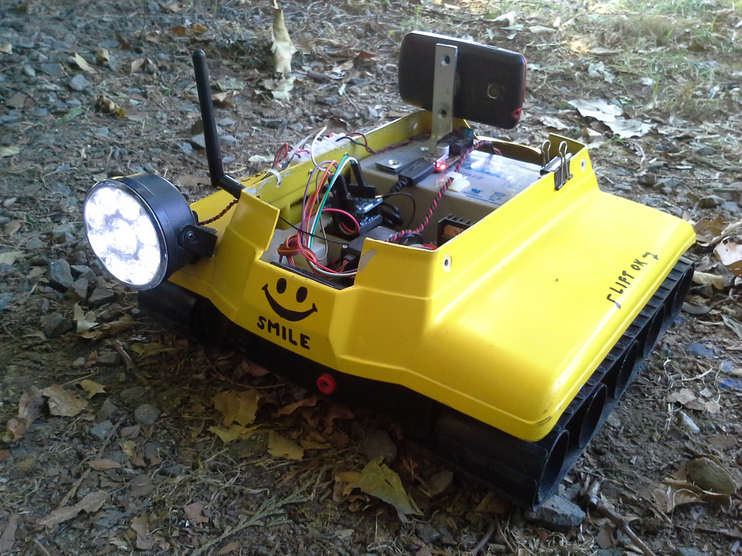 Use smartphone for FPV camera and GPS tracking smartcar
