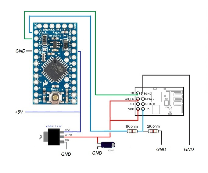 Arduino uno promini and esp as wifi need help with