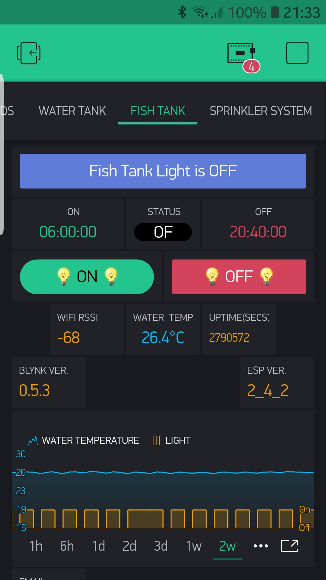 Fish_tank lighting - Need Help With My Project - Blynk Community