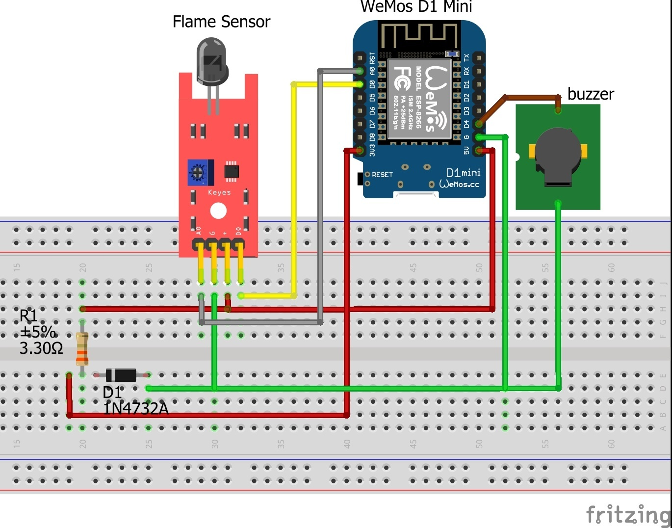 Flame Sensor Fritzing Part
