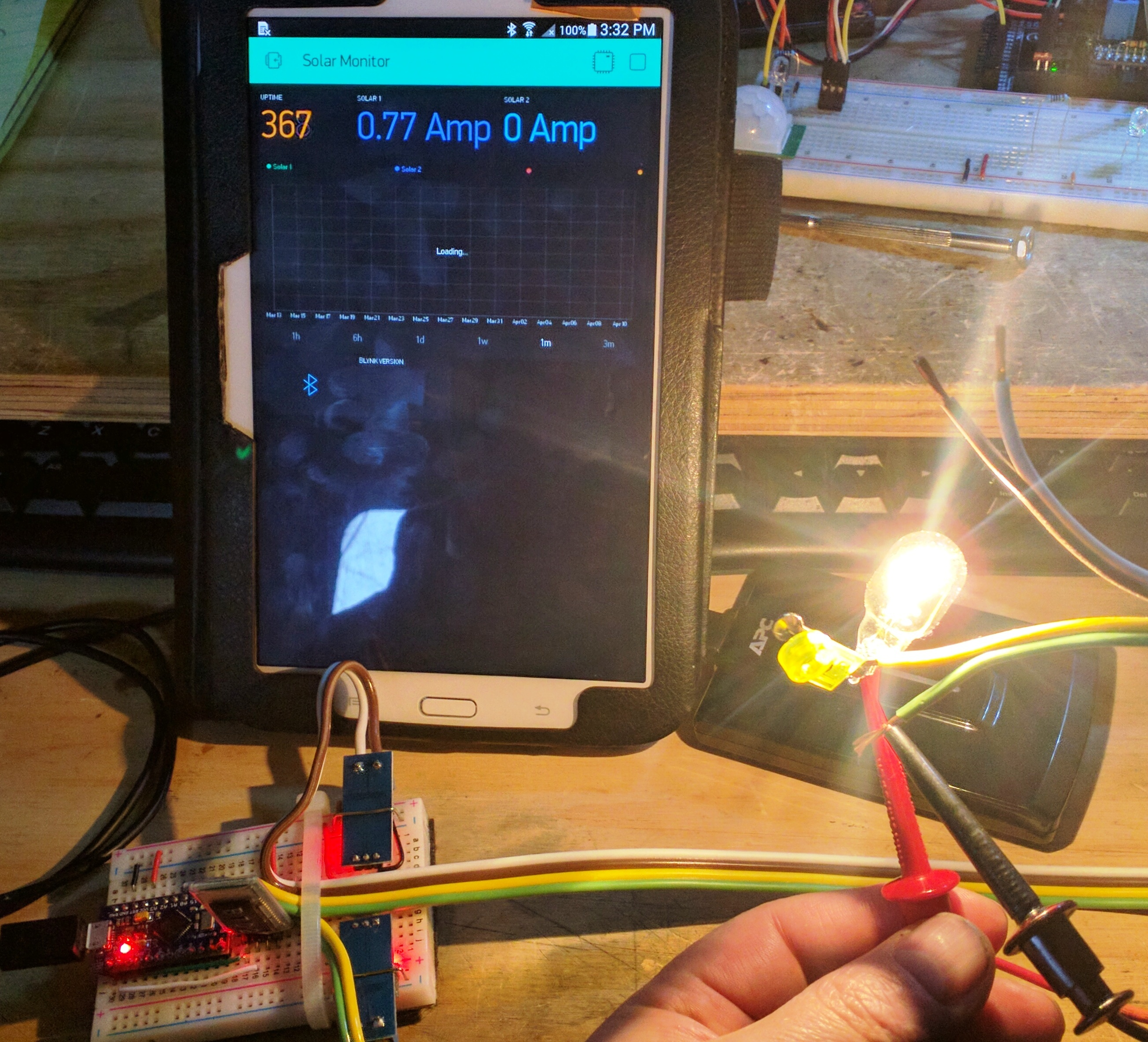 Dirt Simple Solar Charge Monitor using INA219 (formerly