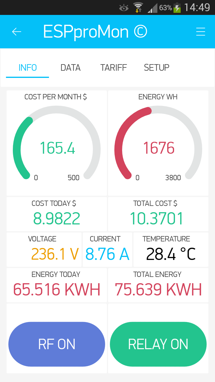 ESPproMon Smart Energy Meter App - what is it? - Projects made with