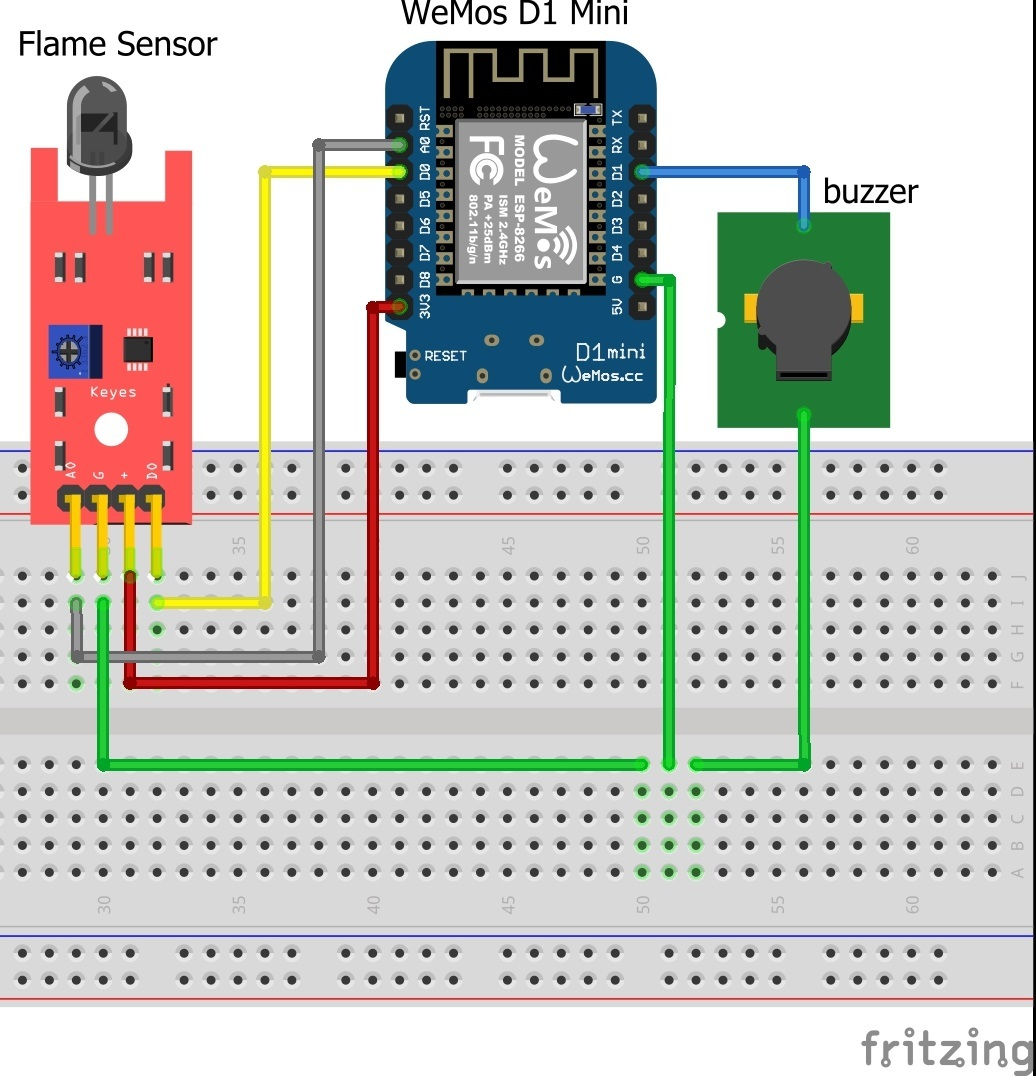 Create Push Notification over Flame Sensor - Need Help With My