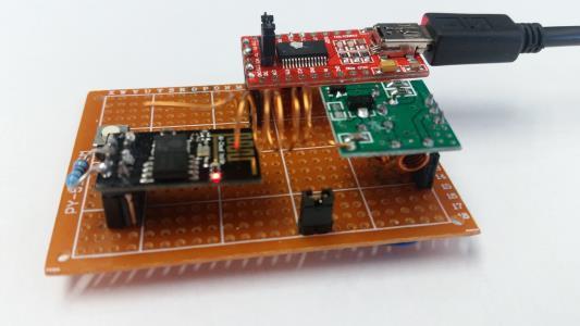 Simple 433Mhz RF Socket Control via Blynk and ESP8266-01