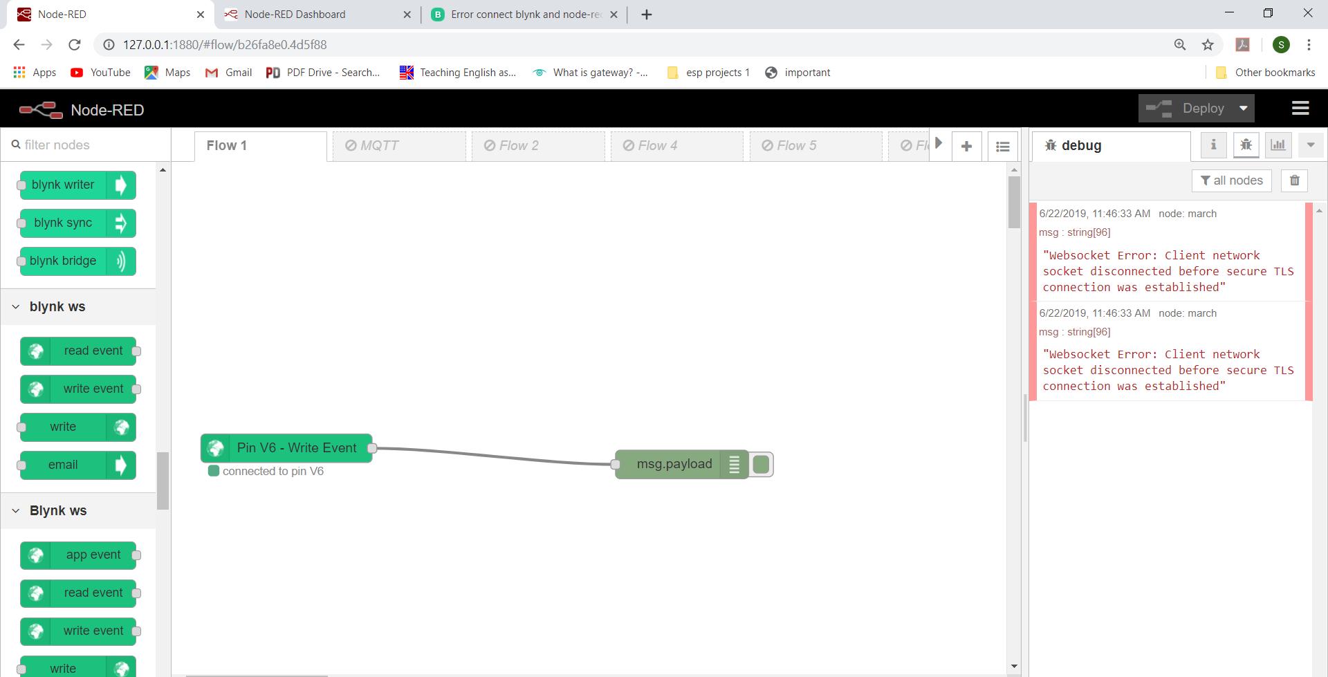 Error connect blynk and node-red - Solved - Blynk Community